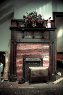 Fireplace, main floor