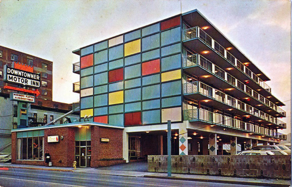 Goodnight raleigh a look at the art architecture for Town house motor inn