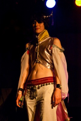 AJ Reid of Of Colour, with her winning costume