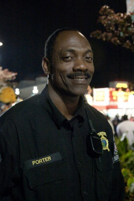 Officer Porter, keeping the peace